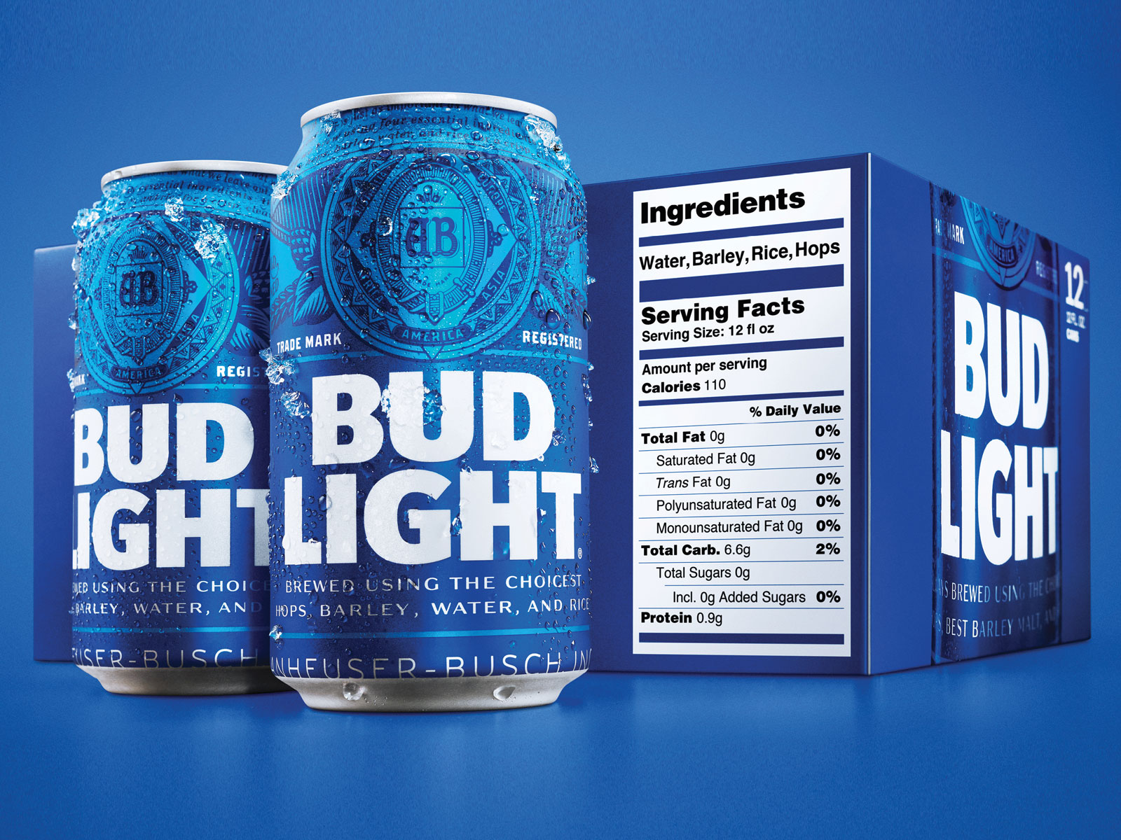 Bud Light Adds Ingredients And Serving Facts To Its