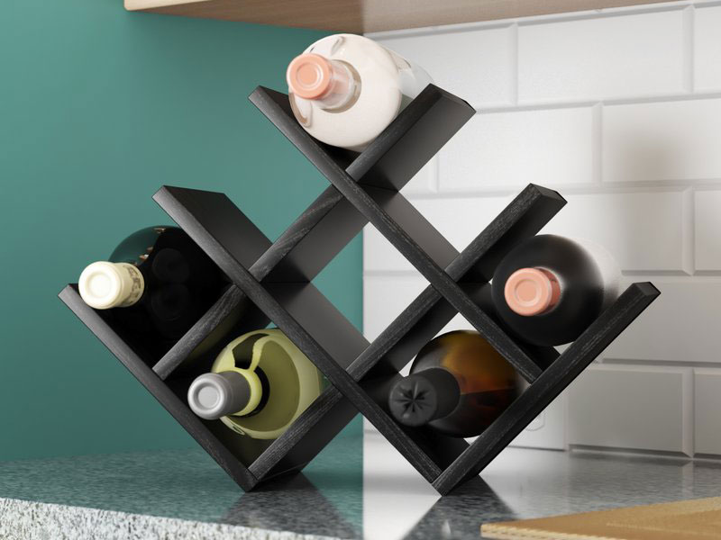 Butterfly 8 Bottle Tabletop Wine Rack