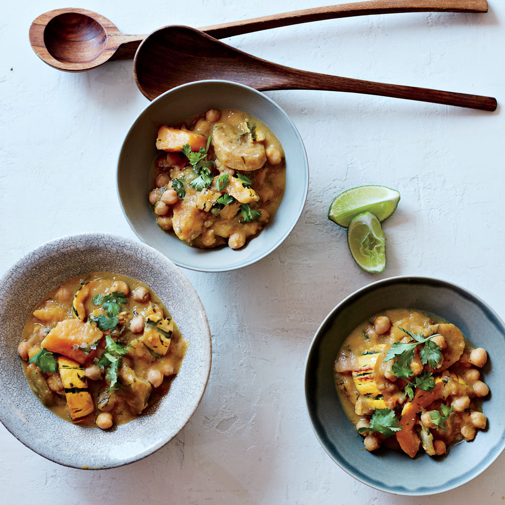 Coconut Chickpeas with Winter Squash
