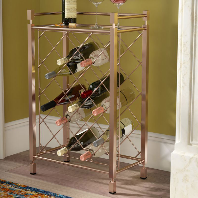 Cotgrave 17 Bottle Floor Wine Bottle Rack