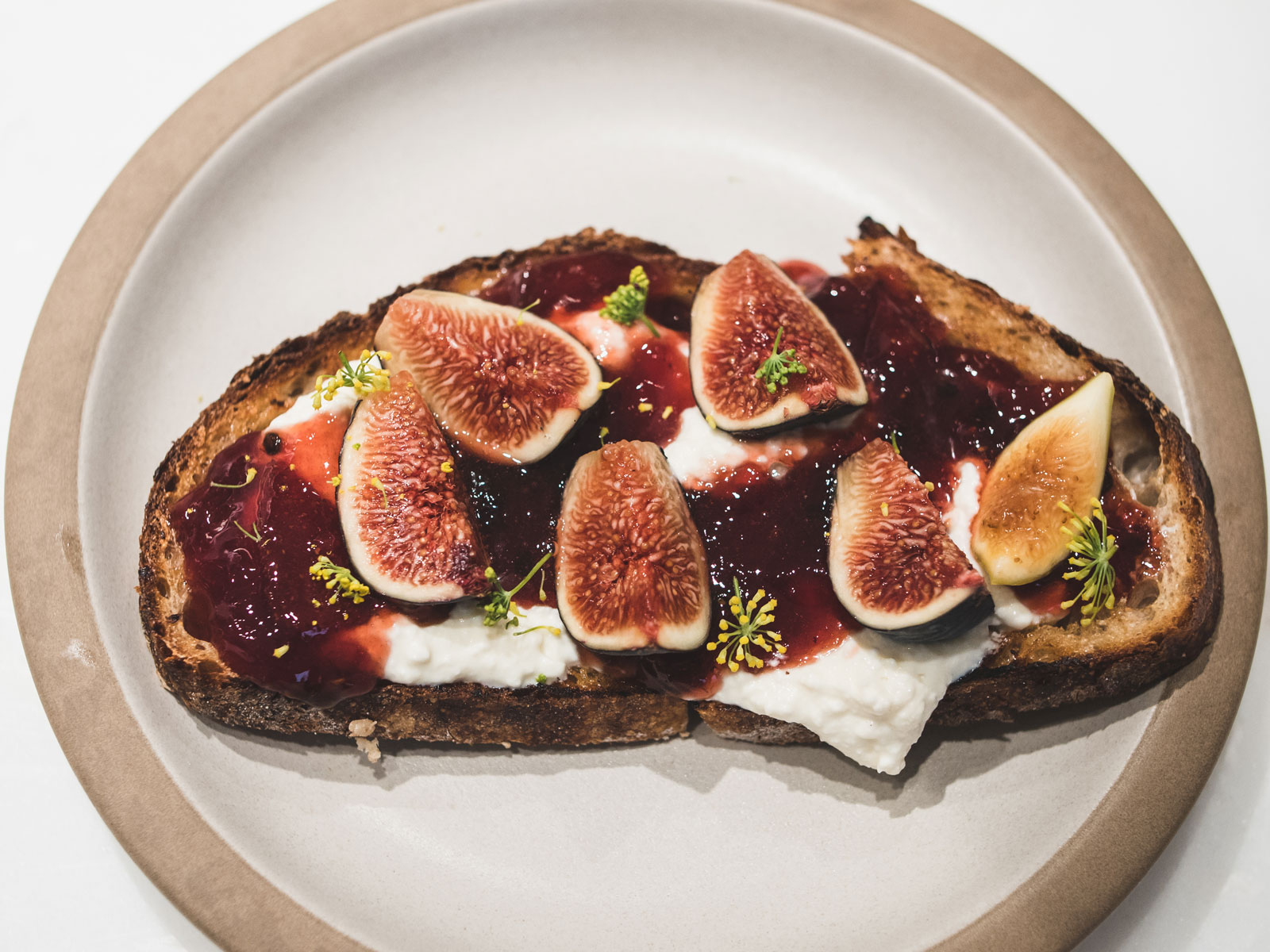 Fig Jam with Ricotta Toast