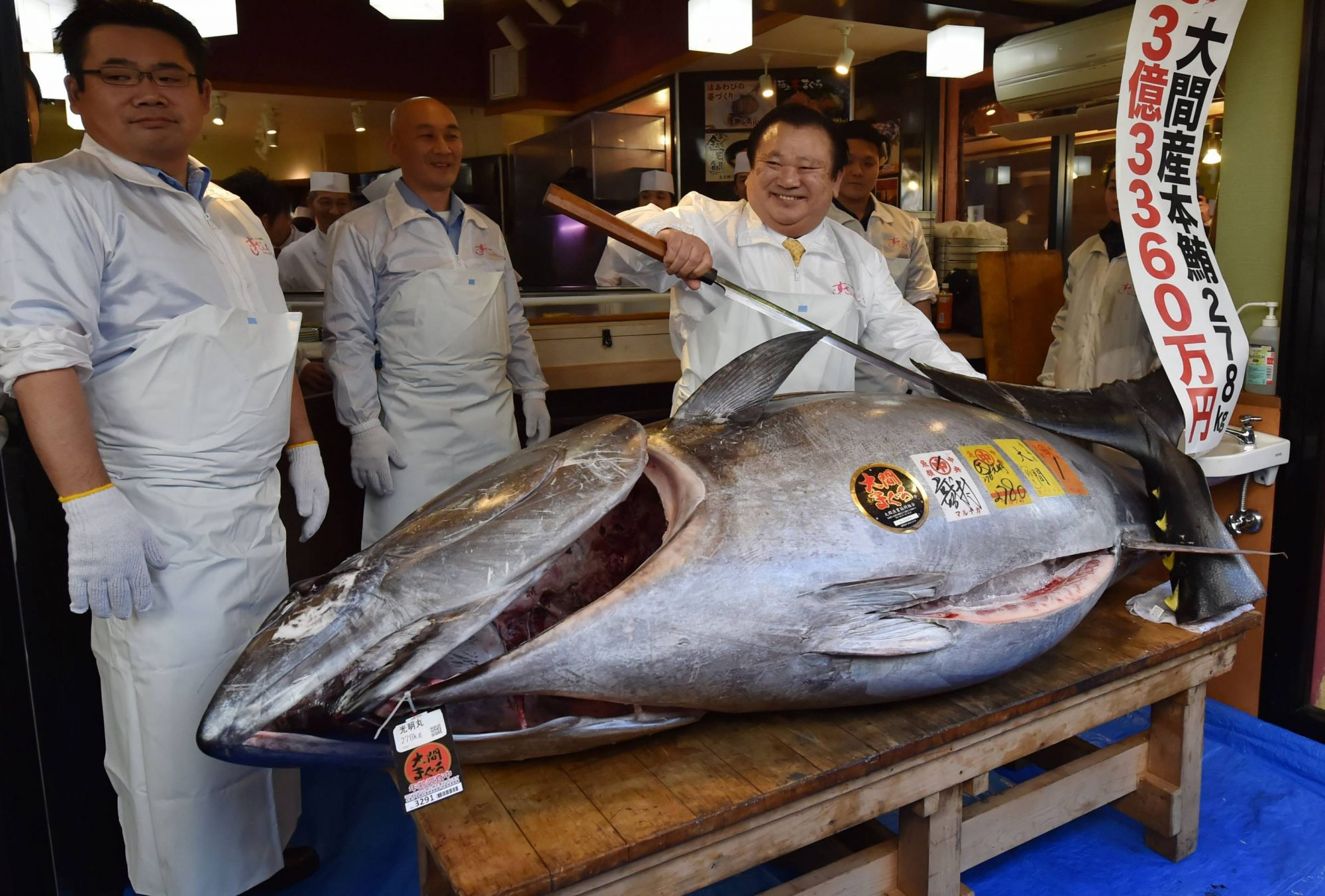 A Giant Bluefin Tuna Sold for $3.1 Million in Tokyo