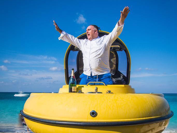 These Photos of José Andrés Emerging from a Submarine Are Just What Our Hearts Needed