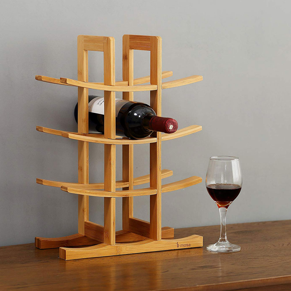 Mosa Natural Bamboo 12 Bottle Wine Rack