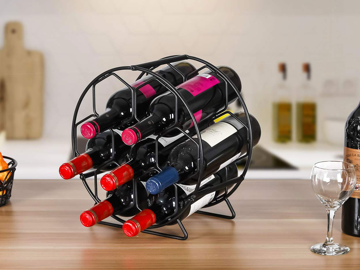 PAG 7 Bottles Countertop Metal Wine Rack