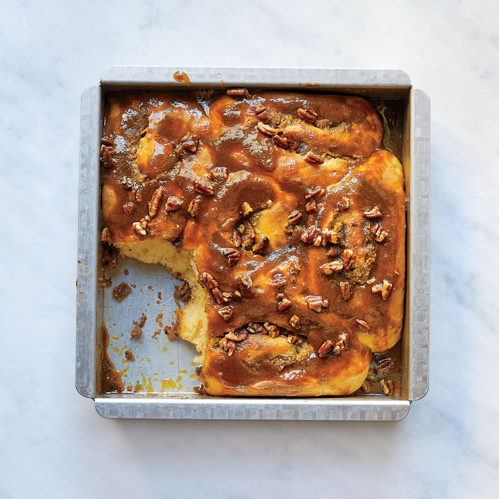 Sweet Potato–Salted Pecan Sticky Buns