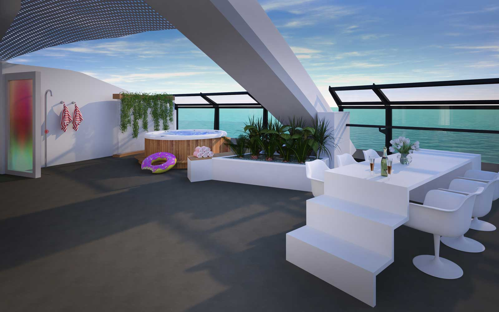 Richard Branson's Virgin Voyages Will Have the Coolest Suites at Sea