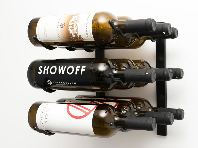 Wall Series 9 Bottle Wall Mounted Wine Rack