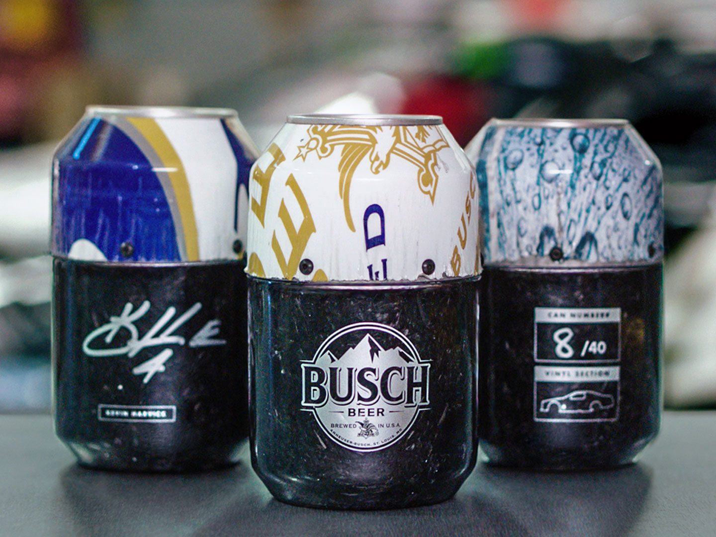 Busch Turned a Racecar into Beer Cans