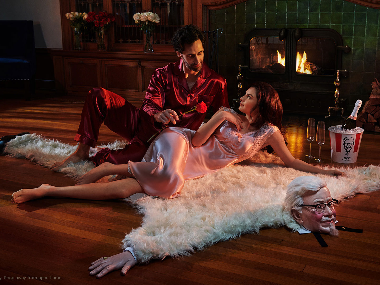 KFC Created a Faux Bearskin Rug That Looks Like Colonel Sanders