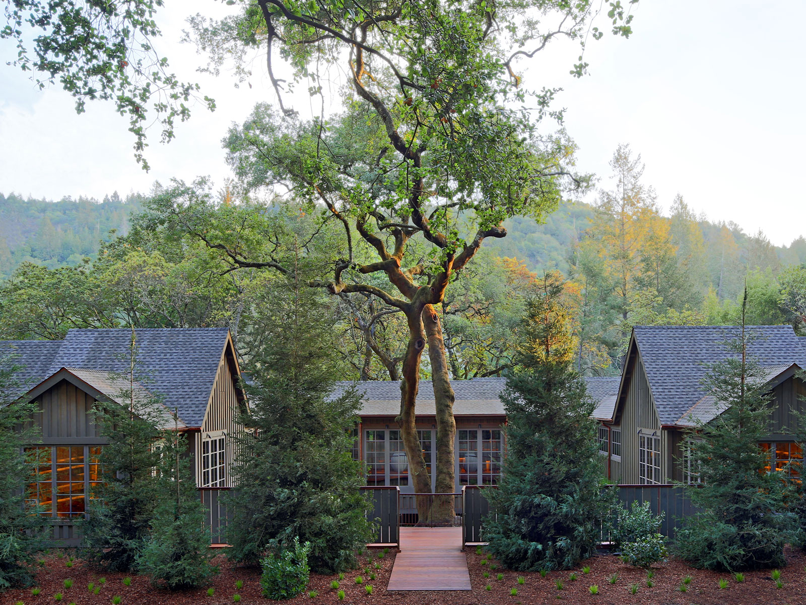 The spa at Meadowood, one of the best places to stay (and eat) in St. Helena.