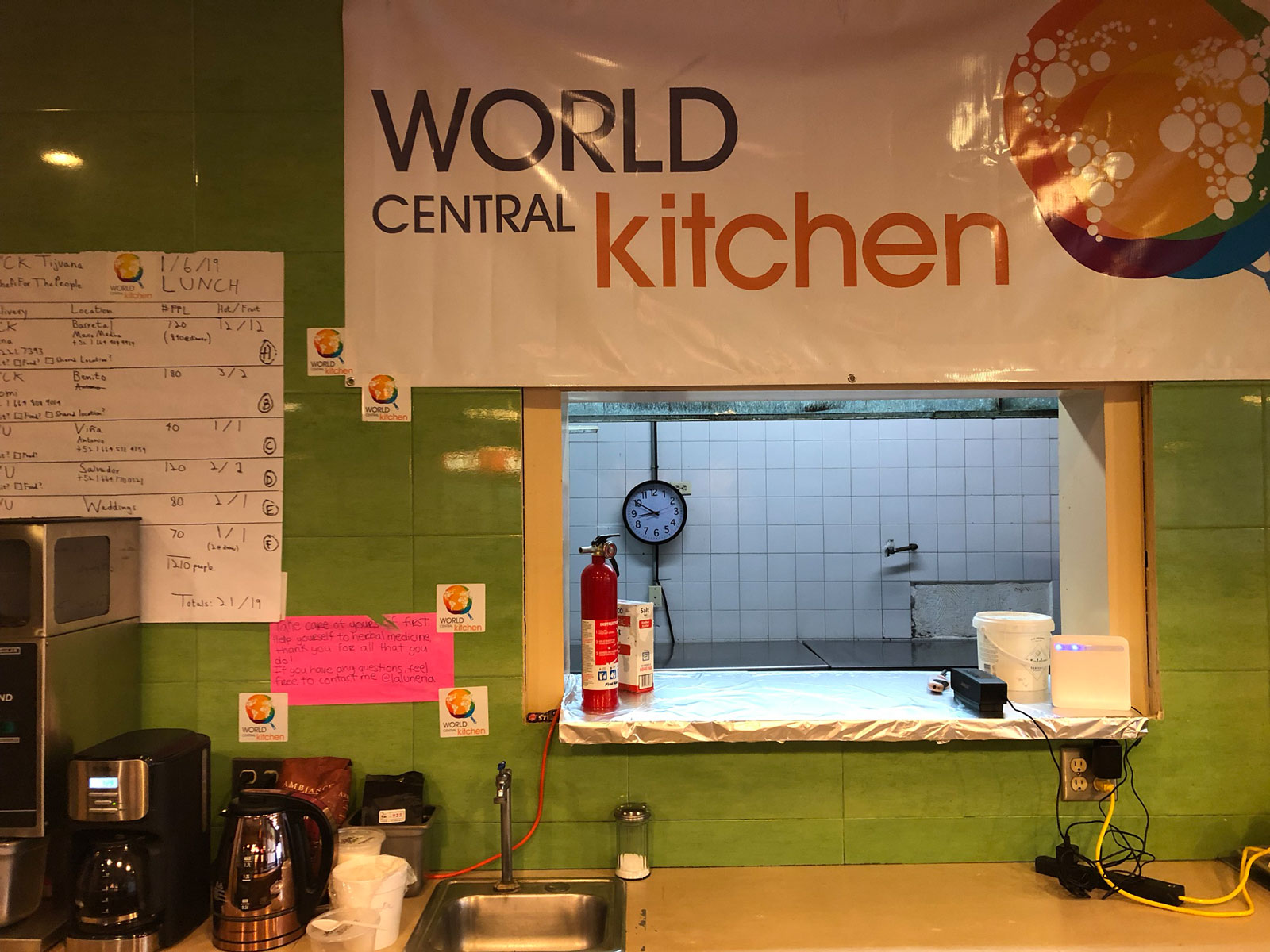 World Central Kitchen Pass Through