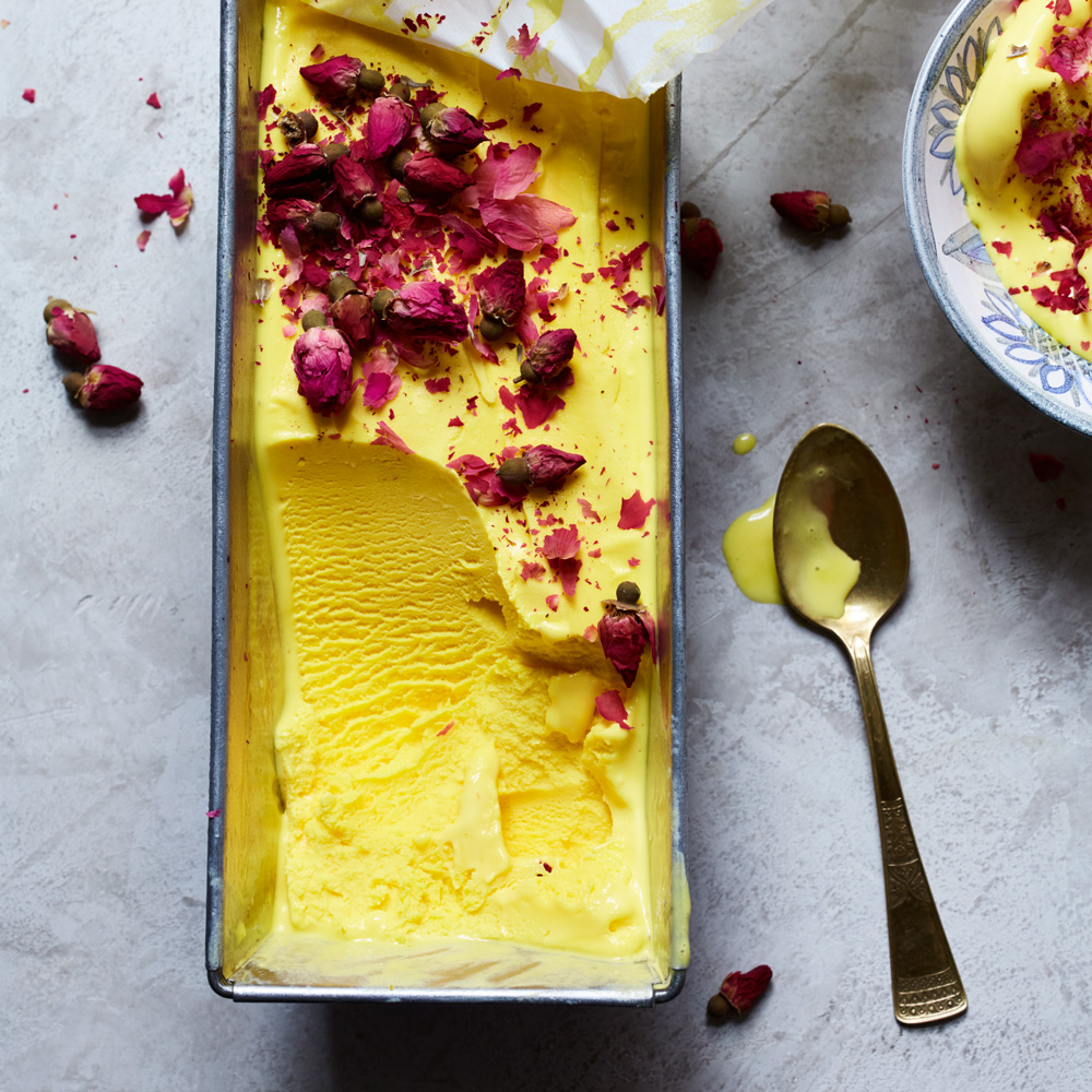 Rosewater-and-Saffron Ice Cream (Bastani Irani)