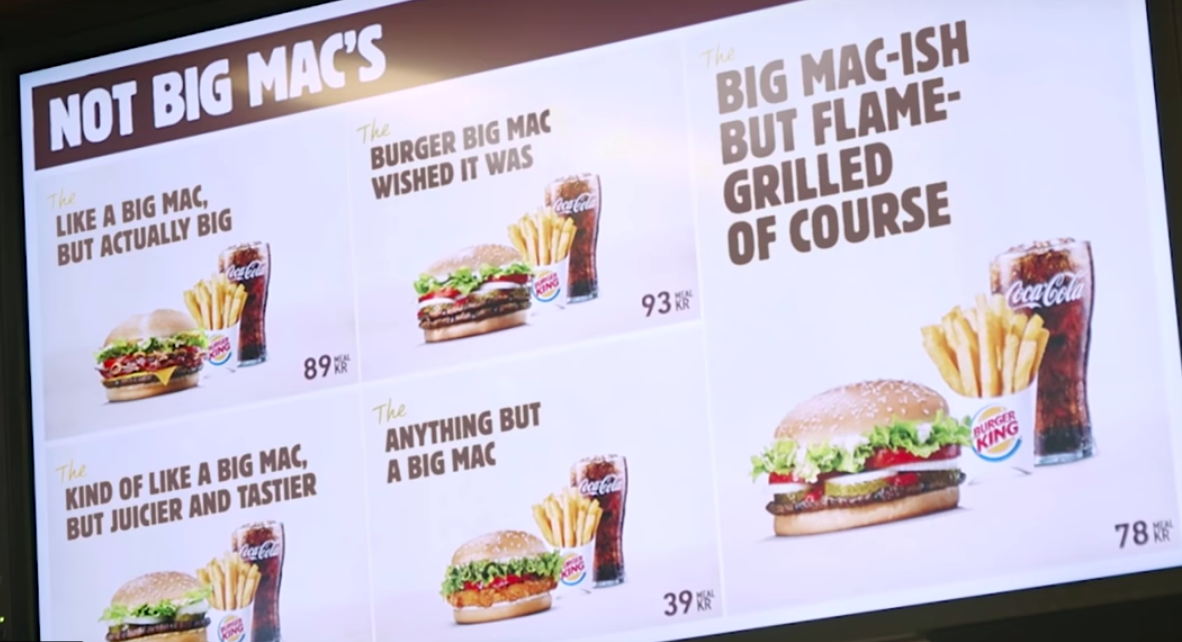 Burger King's Blatant Trolling of McDonald's in Sweden Is Something to Behold