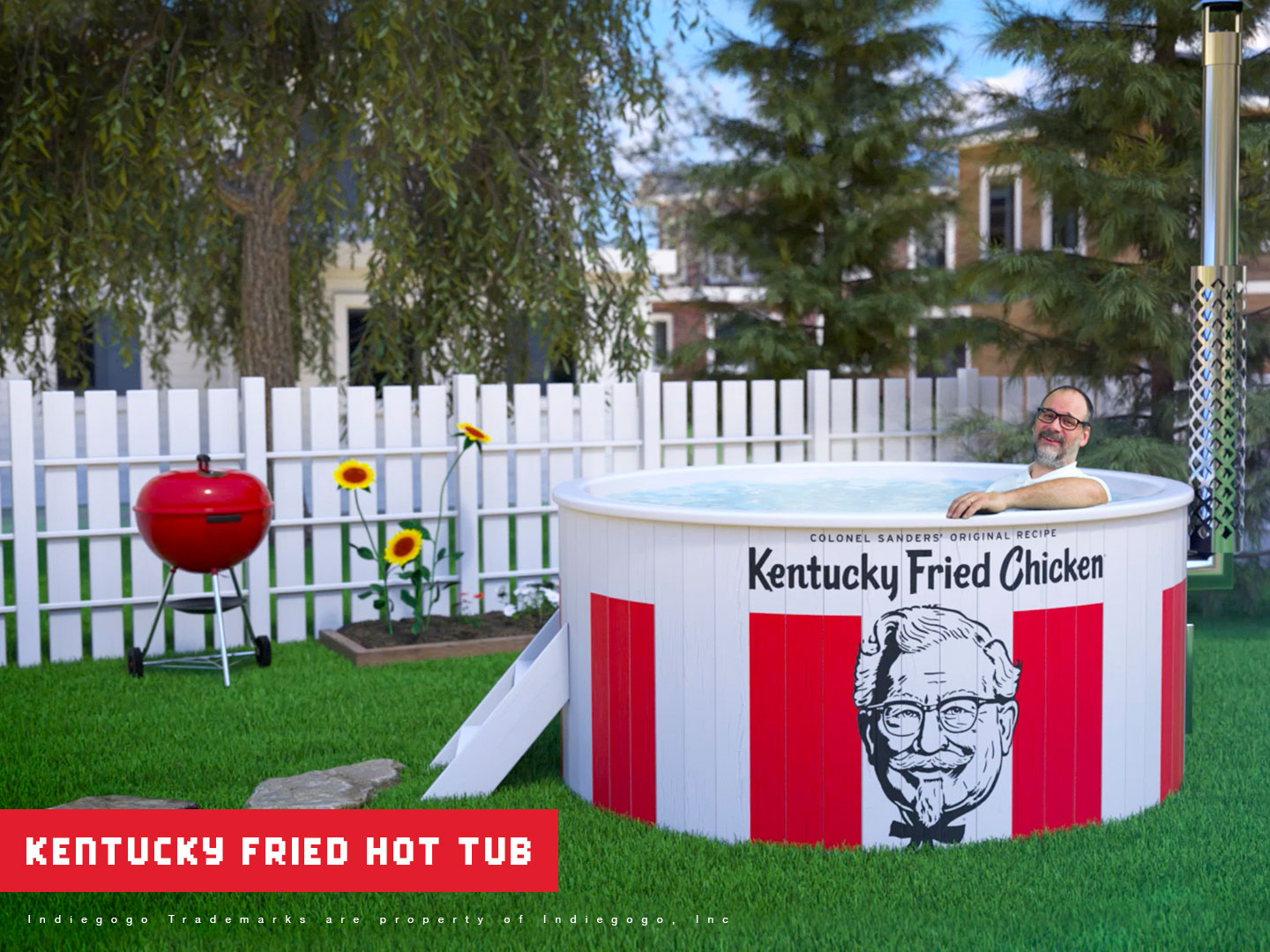 A KFC Bucket Hot Tub and a Colonel Sanders Ice Show Are Raising Funds on Indiegogo