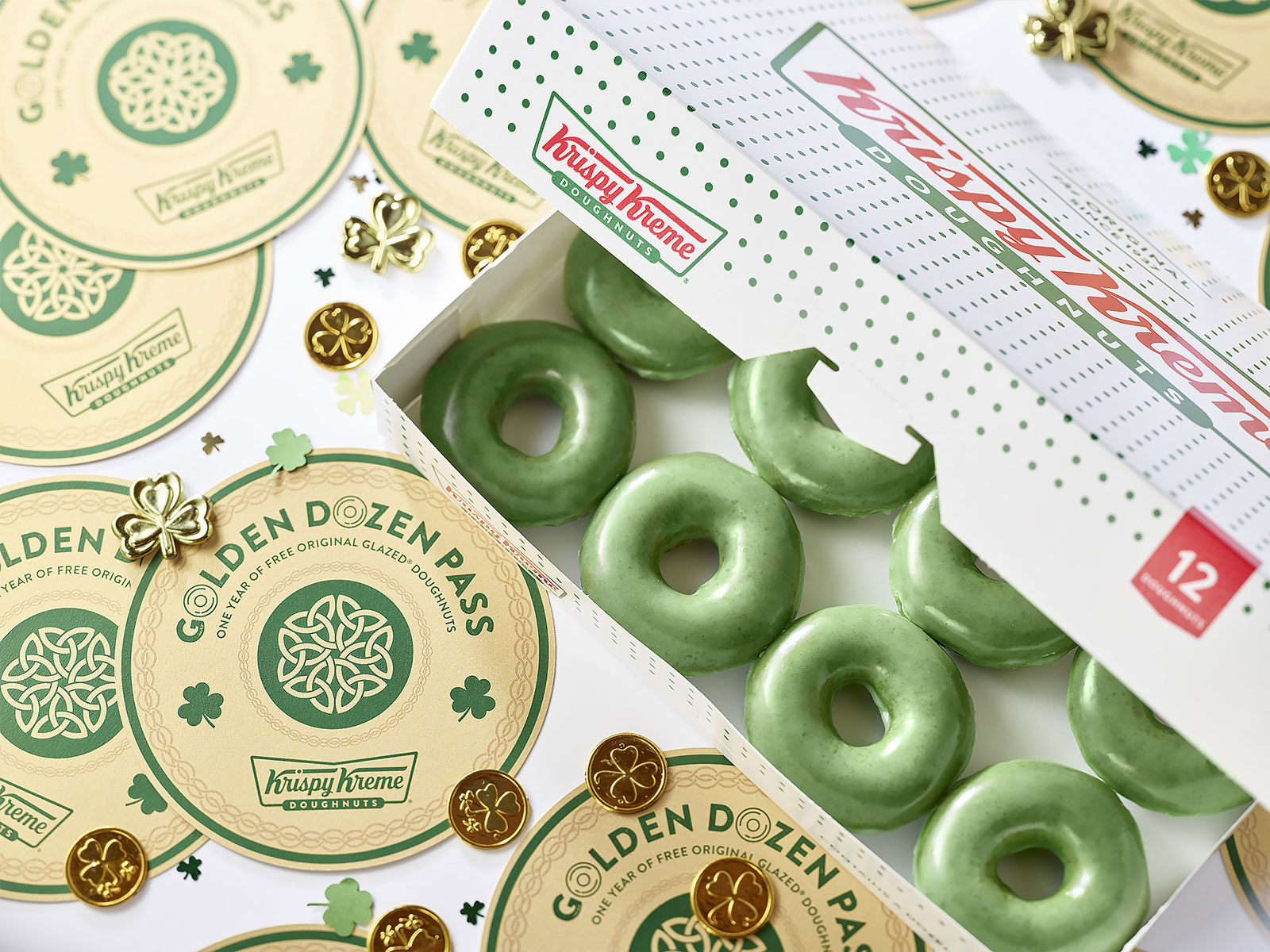 Krispy Kreme Will Give Away Golden Tickets Worth Year of Free Doughnuts on St. Patrick's Day