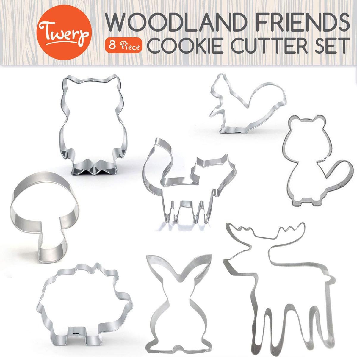 Woodland animals cookie cutter