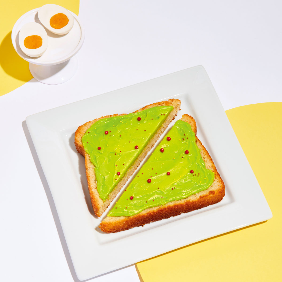 avo toast cake from the Power of Sprinkles cookbook