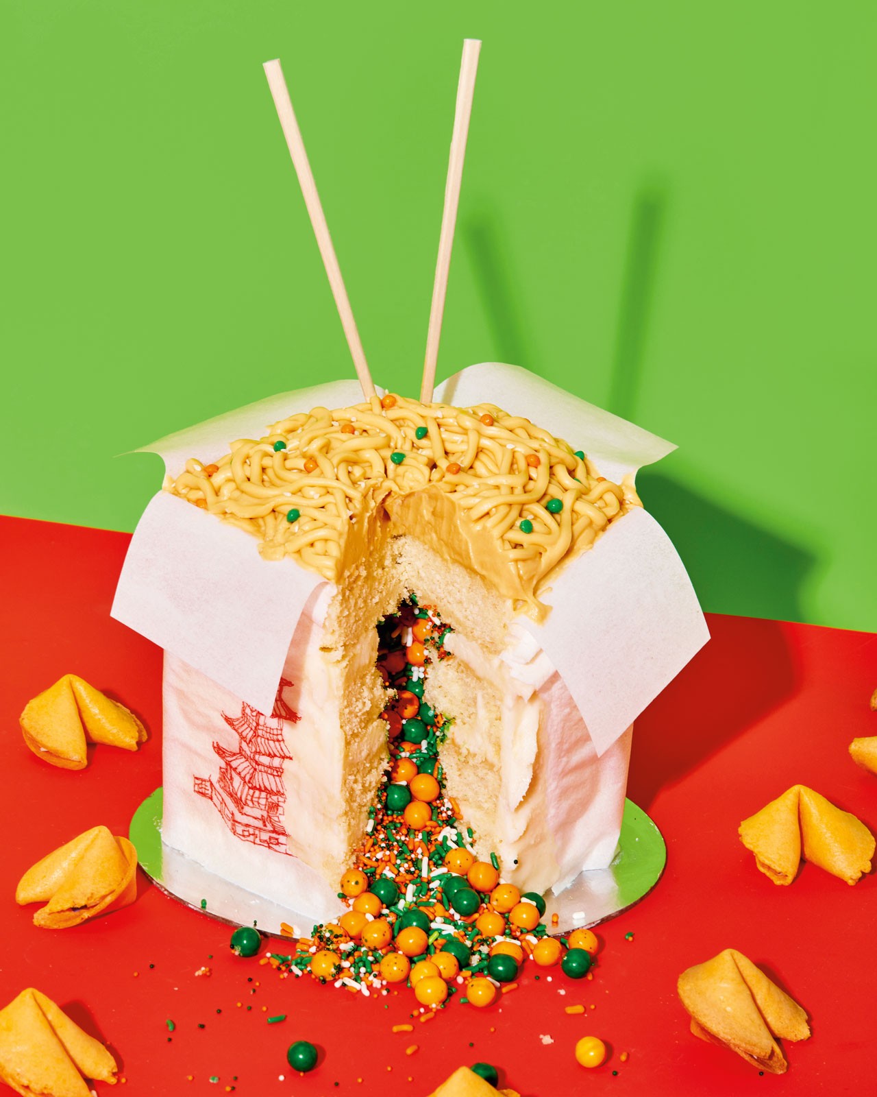 chinese takeout cake from the Power of Sprinkles cookbook