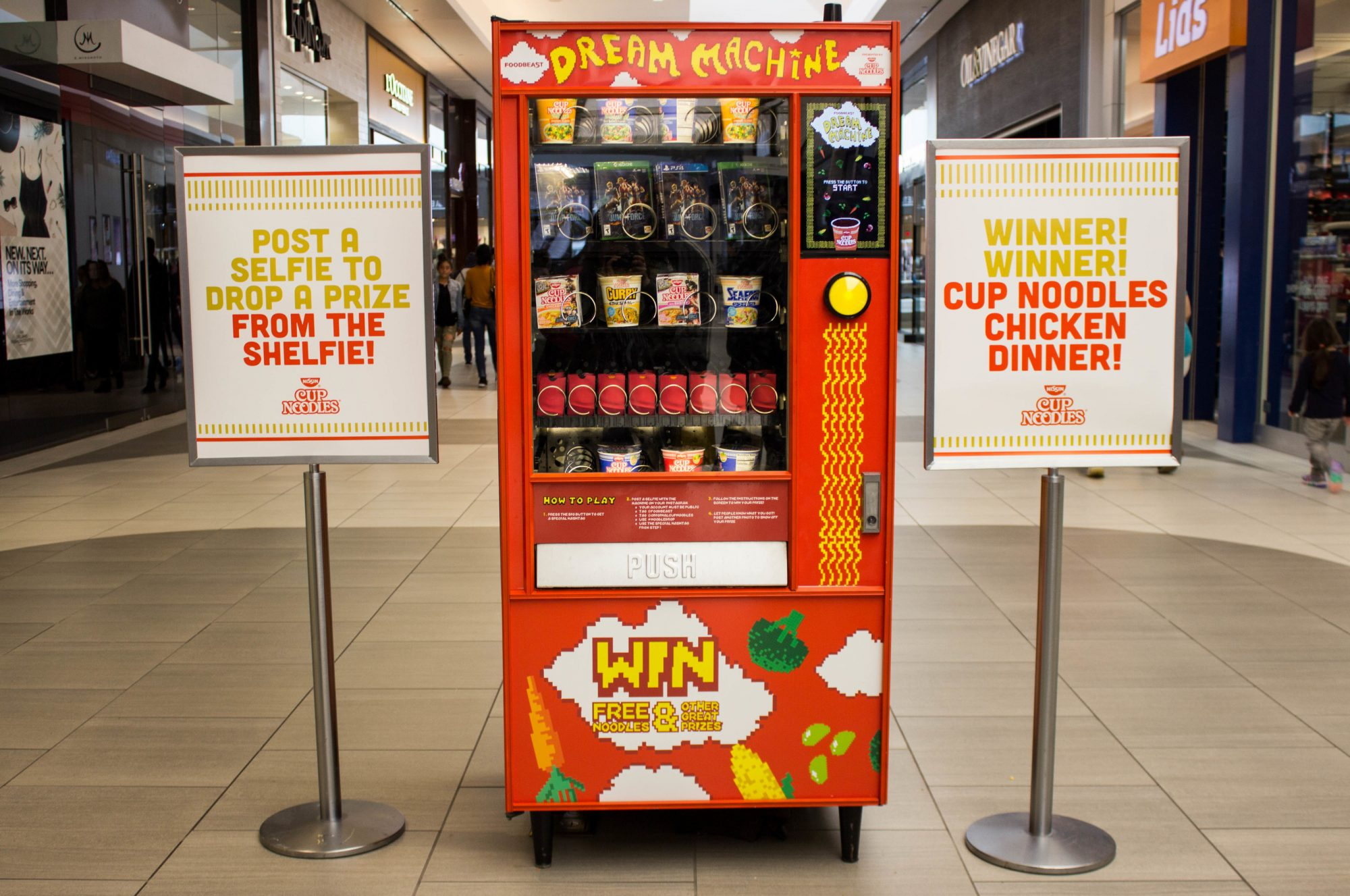 You Can Buy Cup Noodles From a Vending Machine, Using Instagram as Currency