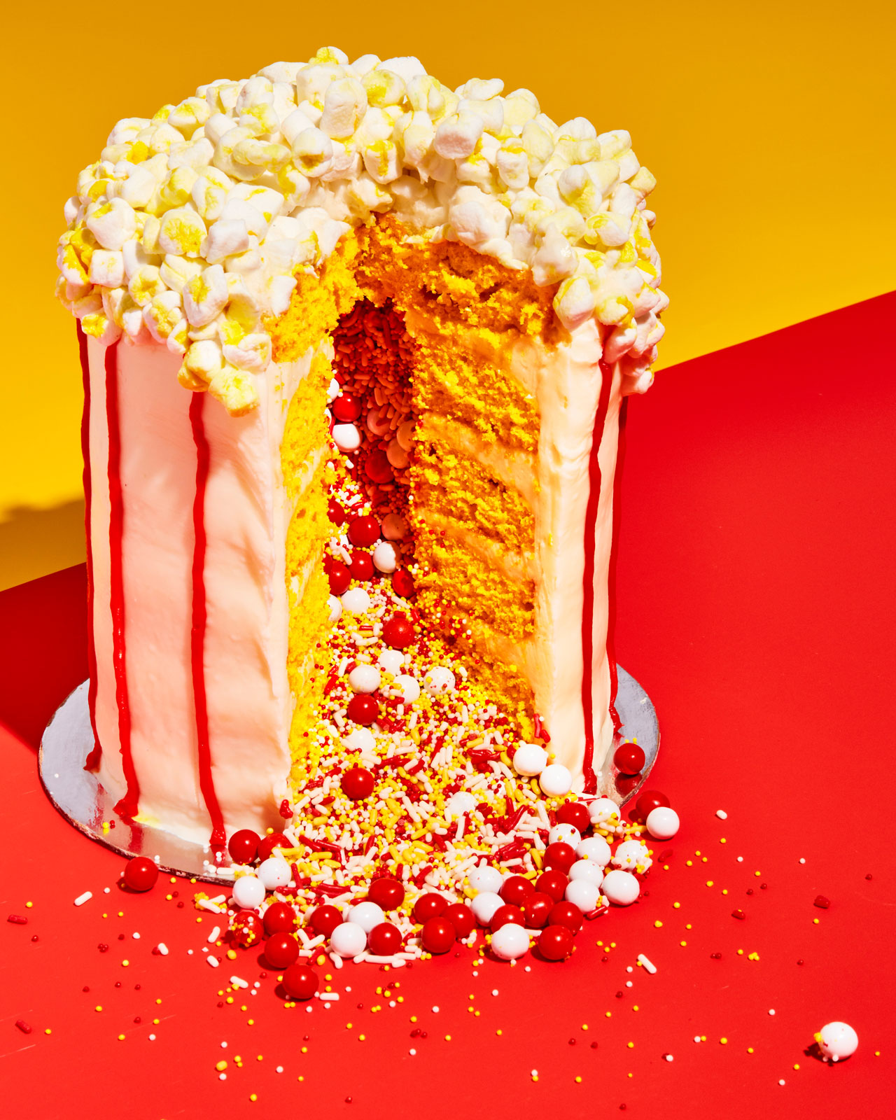 popcorn cake from the Power of Sprinkles cookbook