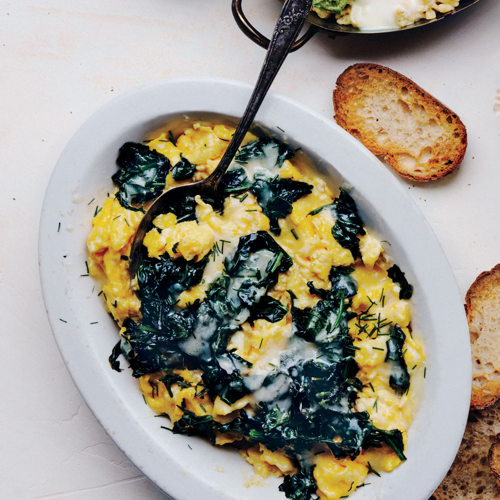Scrambled Eggs Florentine