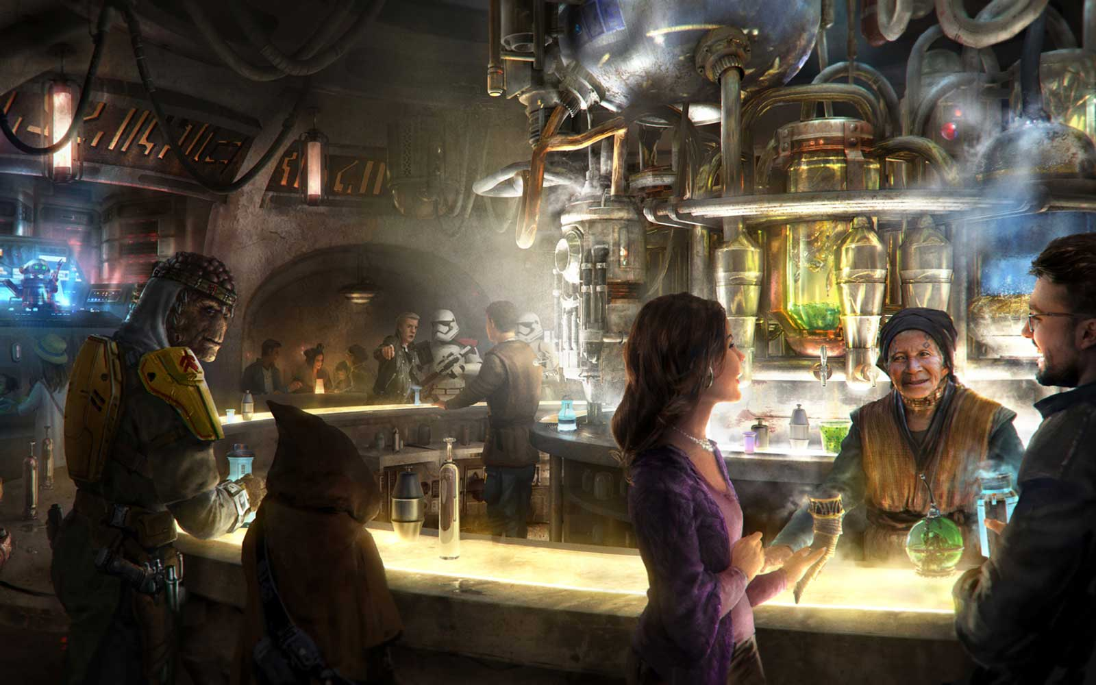 Artist's Concept drawing of Oga's Cantina