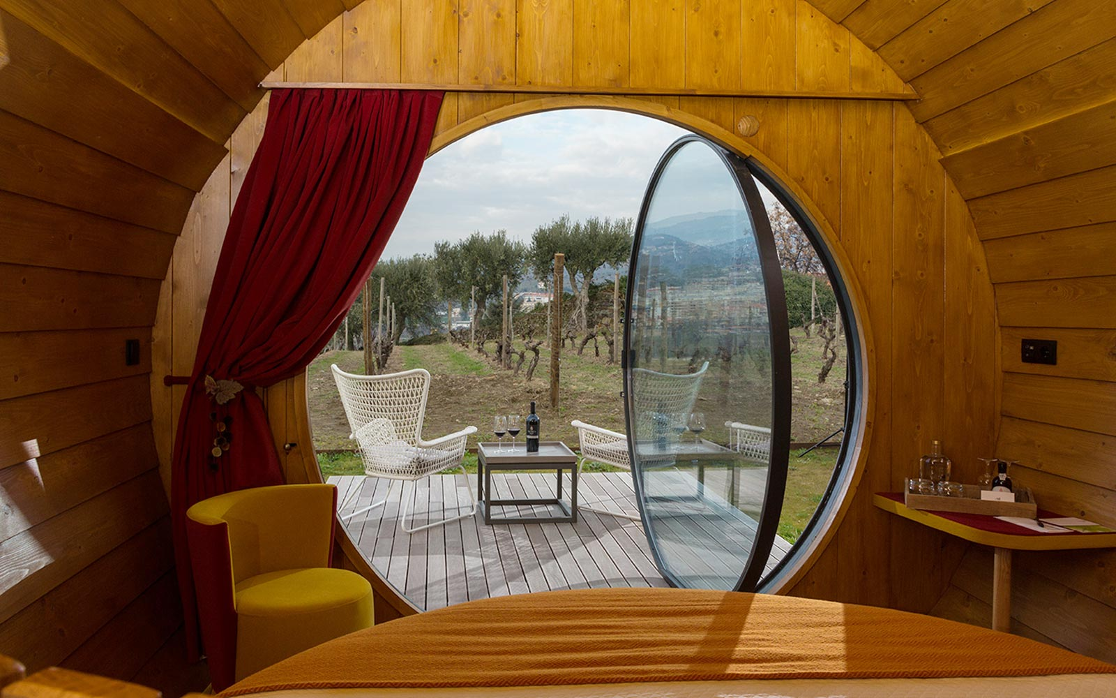 Sleep in a Giant Wine Barrel at This Vineyard in Portugal