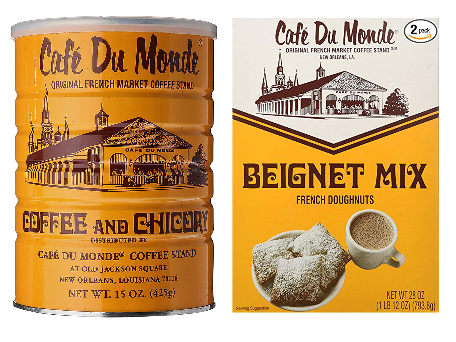Cafe du Monde beignets and chicory coffee