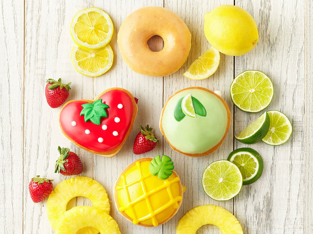 Krispy Kreme's Summer Doughnut Collection Is All About Cute Little Fruits