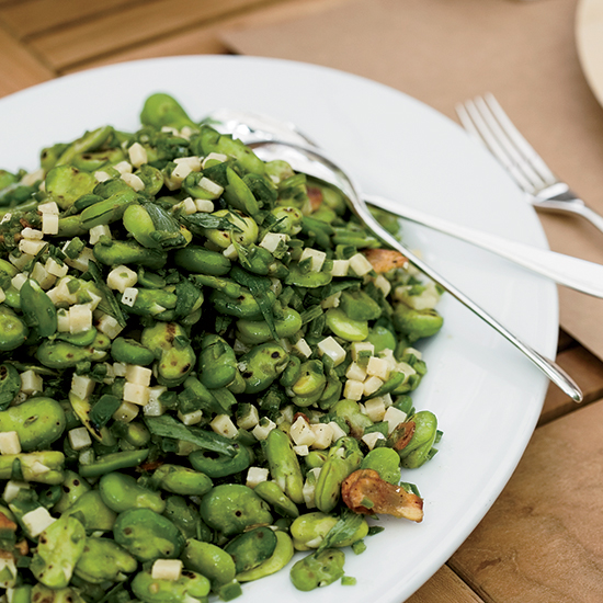 <div>Charred Fava Bean Salad with Lemon and Tarragon</div>