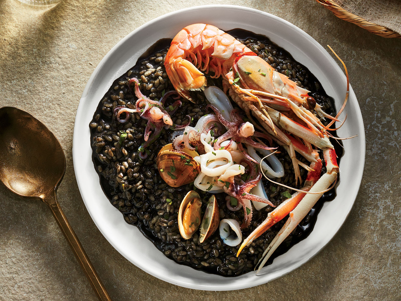 Croatian Langoustine and Squid Ink Risotto