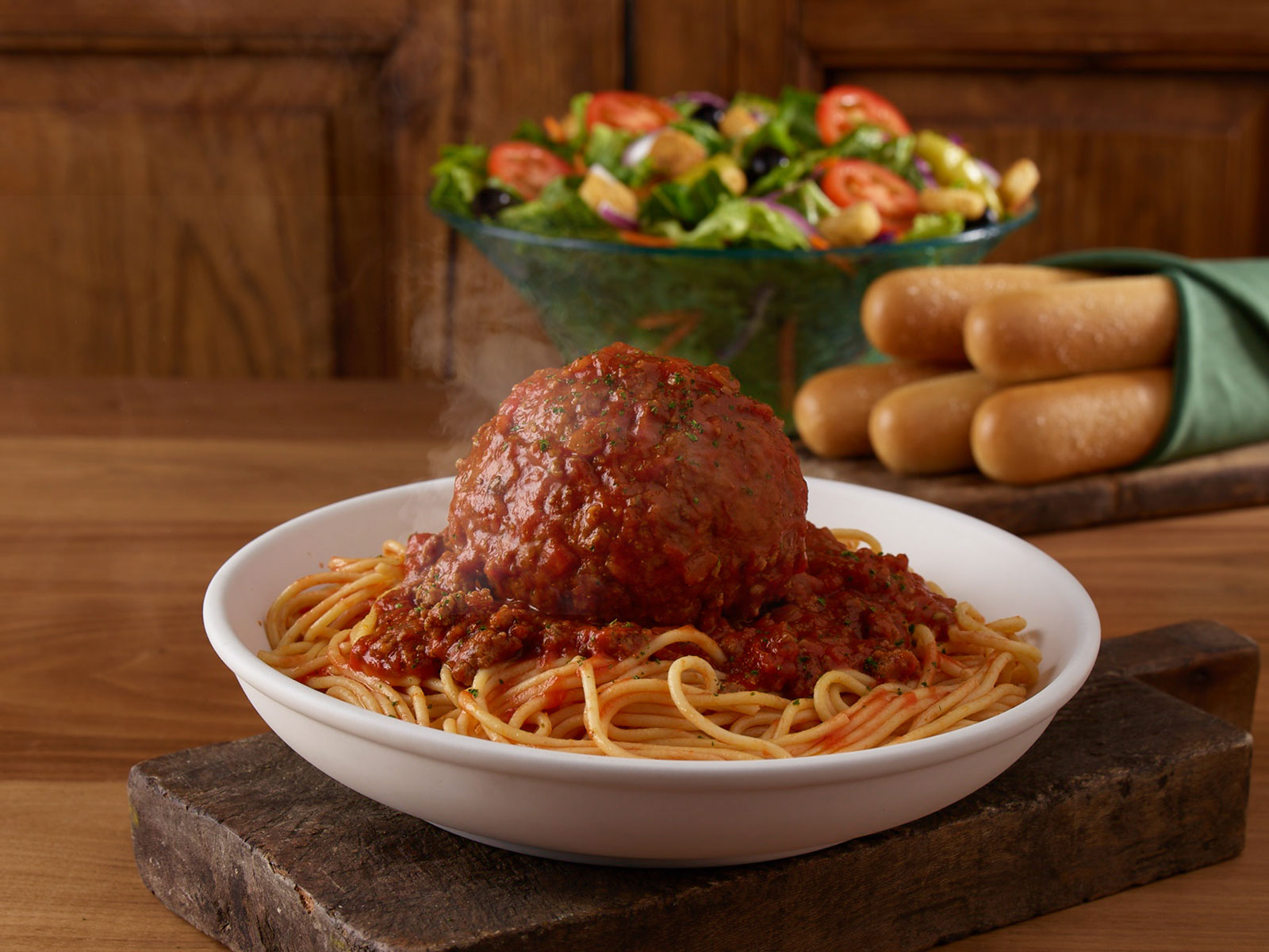 Olive Garden Adds Giant Meatball and Footlong Chicken Parm to Its Menu