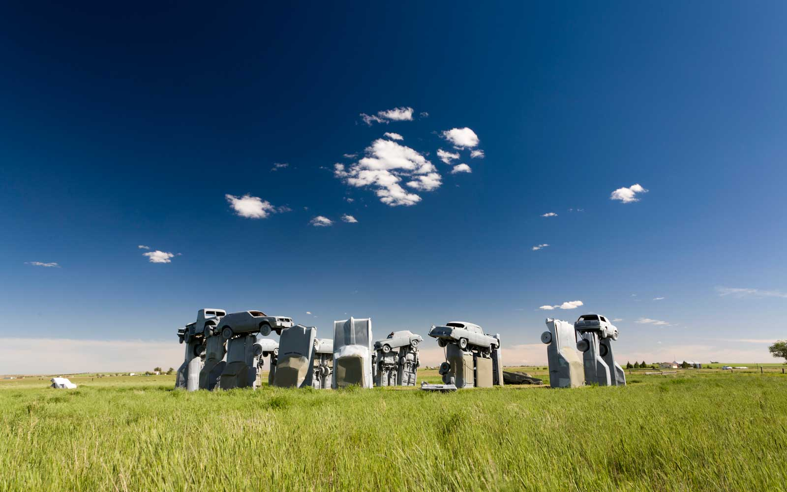 Carhenge, a replica of England's Stonehenge located near the city of Alliance, Nebraska