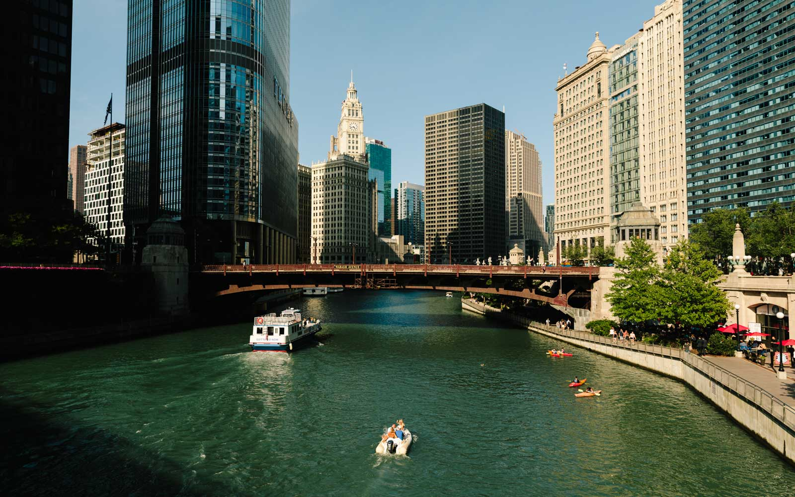 Boats on the Chicago River
