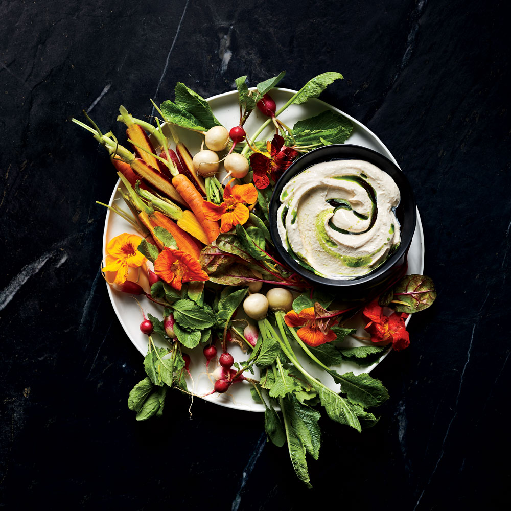 Crudites and Fermented Soy Bean Dip