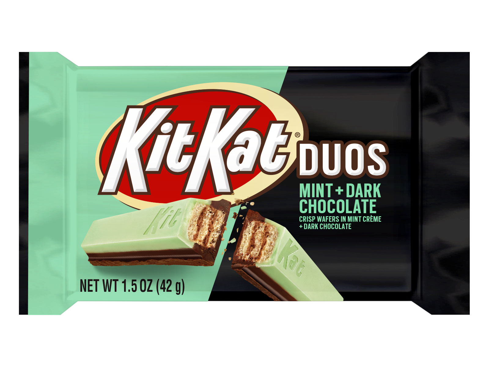 Kit Kat Unveils New Kit Kat Duos Mint + Dark Chocolate Bar