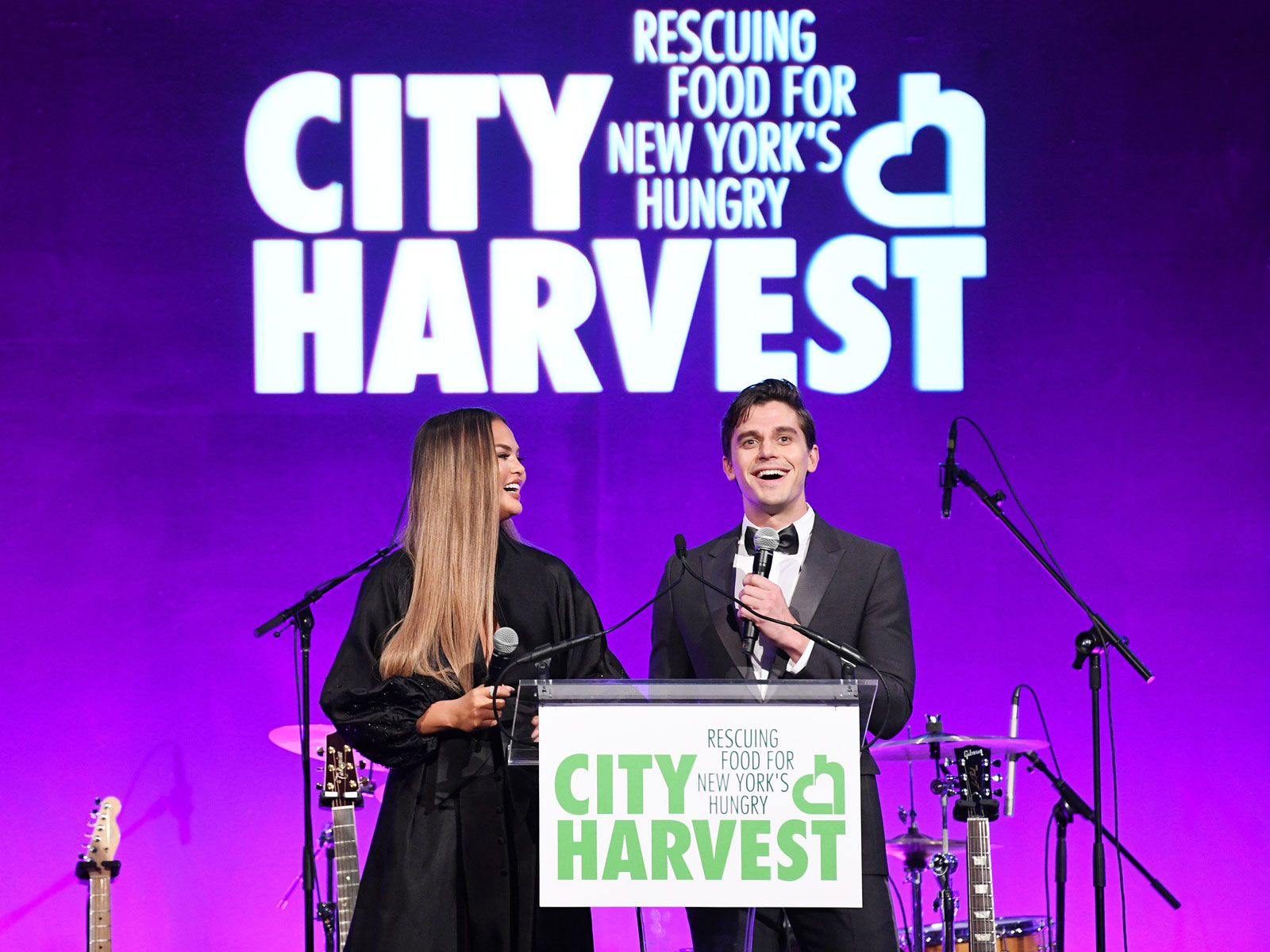 Chrissy Teigen and Antoni Porowski Host the 2019 City Harvest Gala