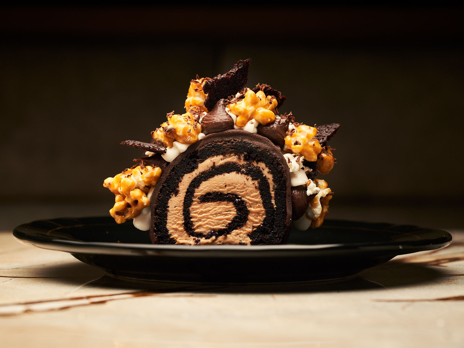 Ember turtle cake roulade