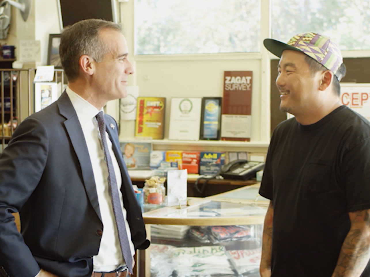 Eric Garcetti and Roy Choi