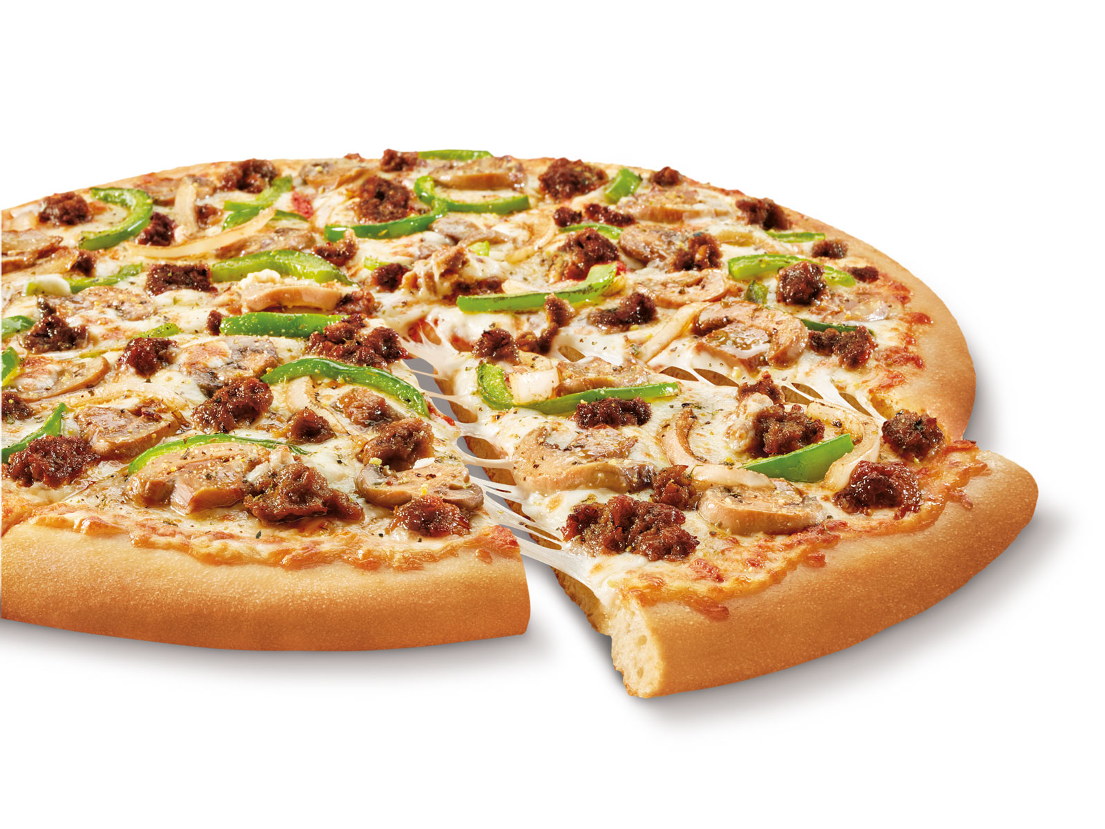 Impossible Pizza Little Caesars Adds Plant Based Sausage To