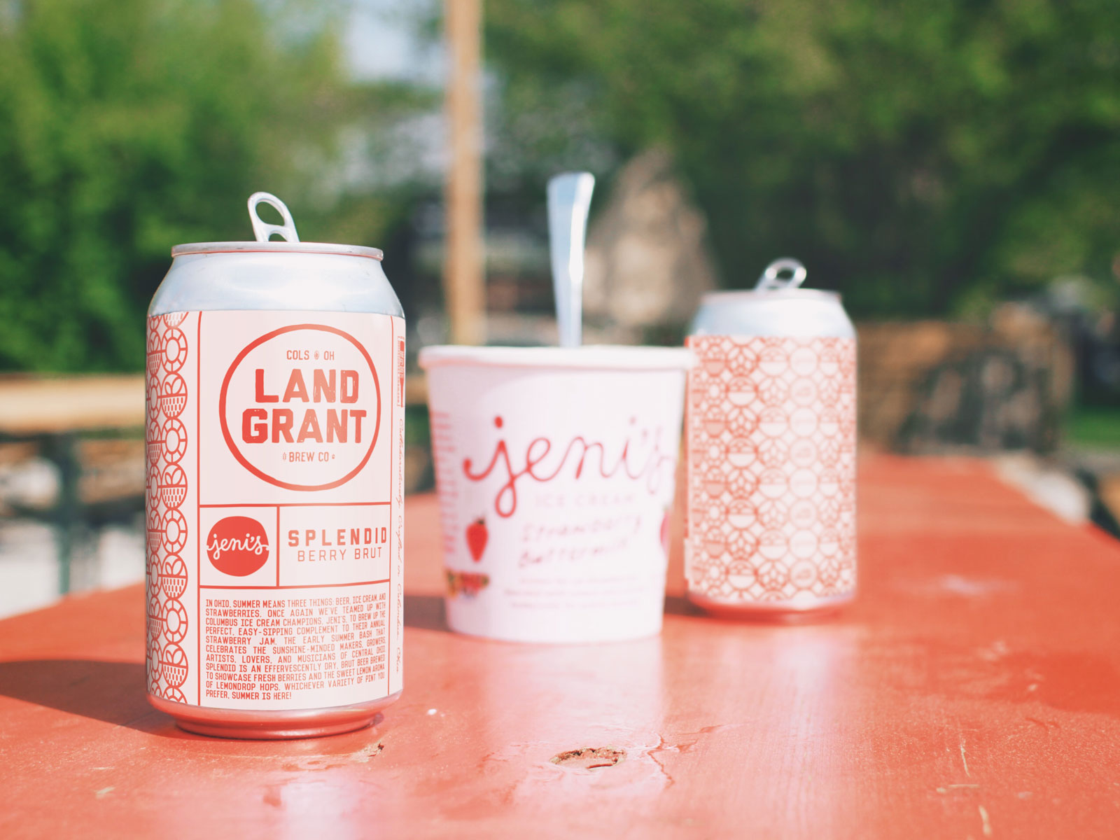 Jeni's Splendid Collaborated on a Berry-Infused Beer Just in Time for Strawberry Season