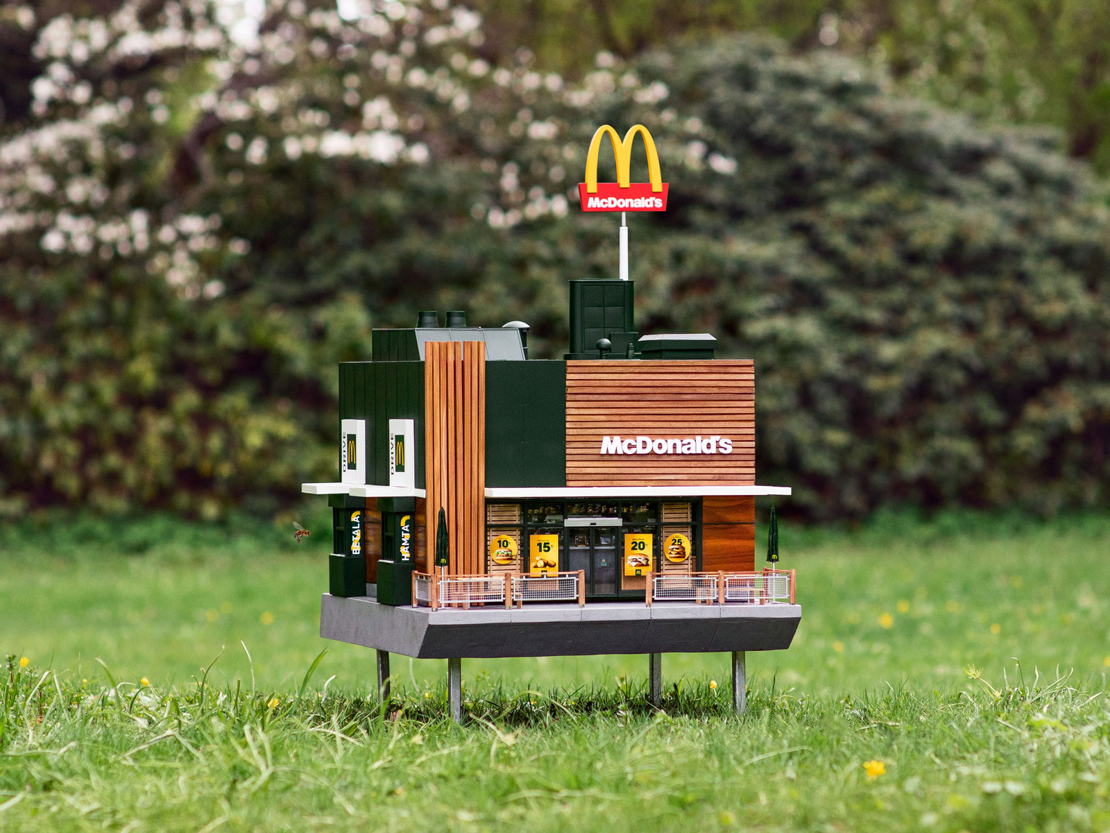The 'World's Smallest McDonald's' Is Now Open — to Bees