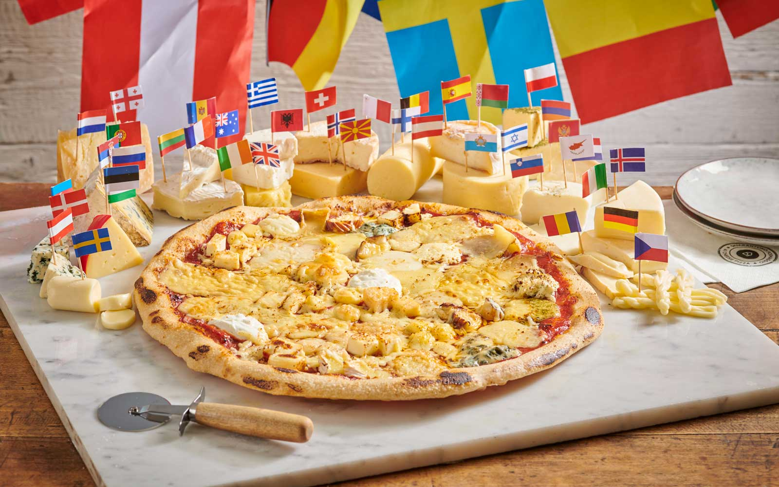 This Pizza Has 41 Types of Cheese From 41 Countries Around the World