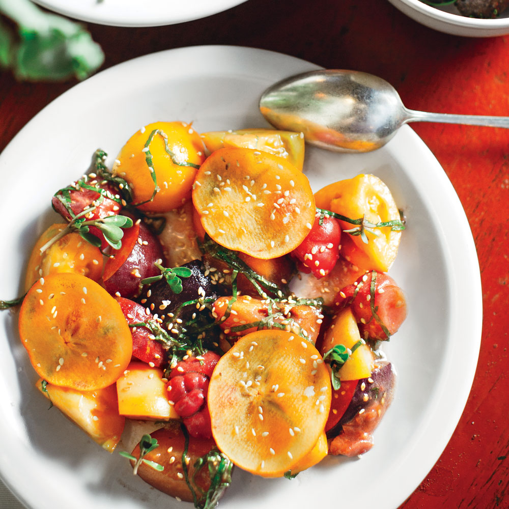 Heirloom Tomato and Plum Salad