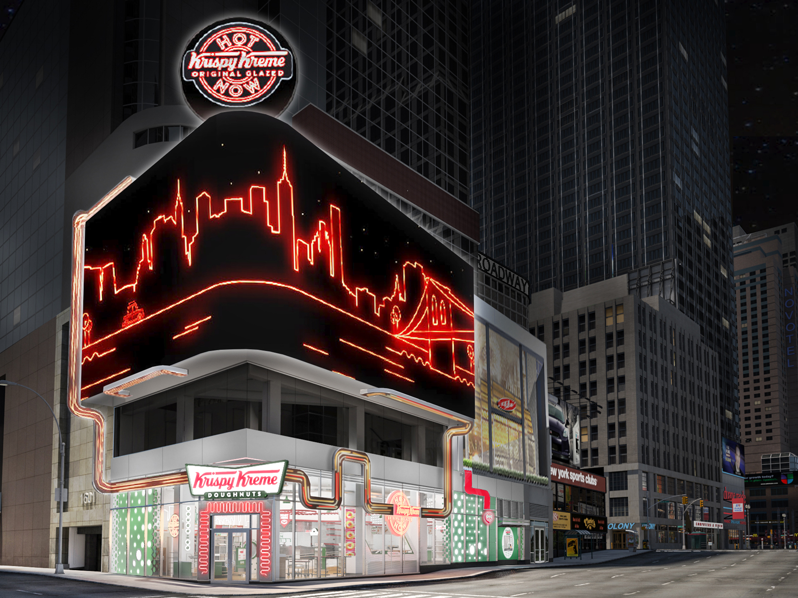 Krispy Kreme to Open 'Flagship' Location in NYC, a Massive Tribute to Doughnuts
