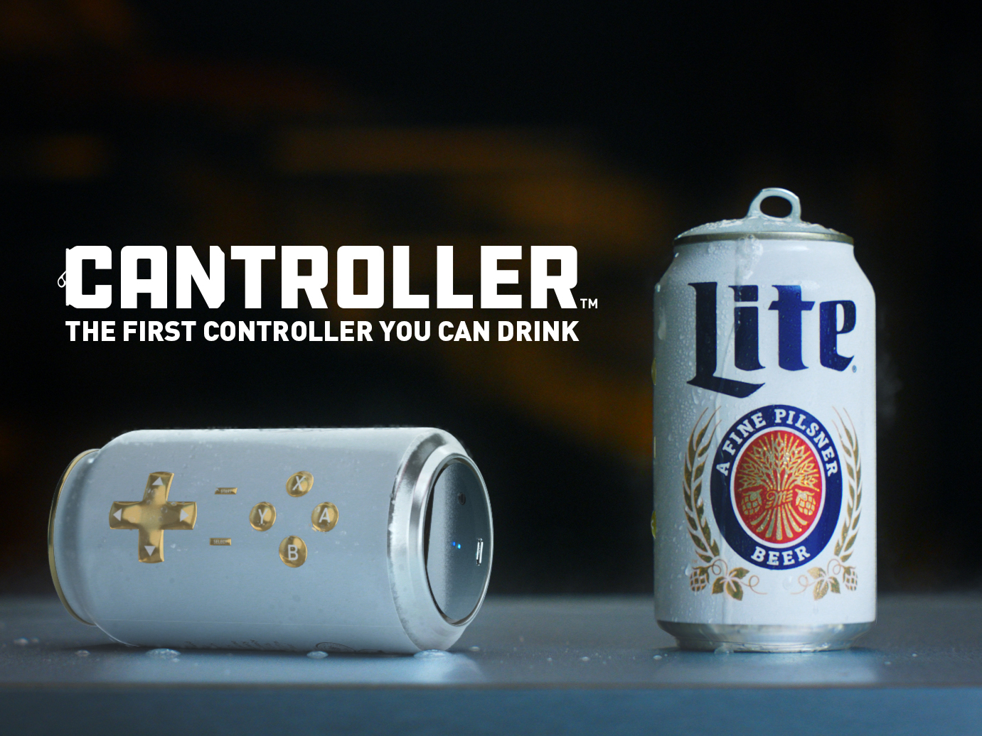 Miller Lite Has Made a Video Game Controller-Beer Hybrid Called 'The Cantroller'