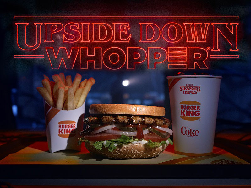 Burger King Flips Its Whoppers 'Upside Down' for 'Stranger Things' Season Three