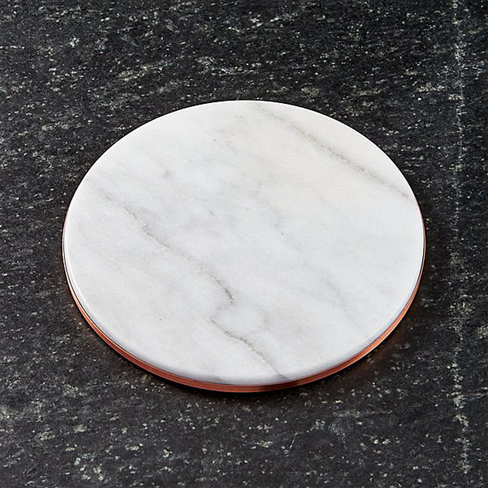 Marble and Copper Trivet