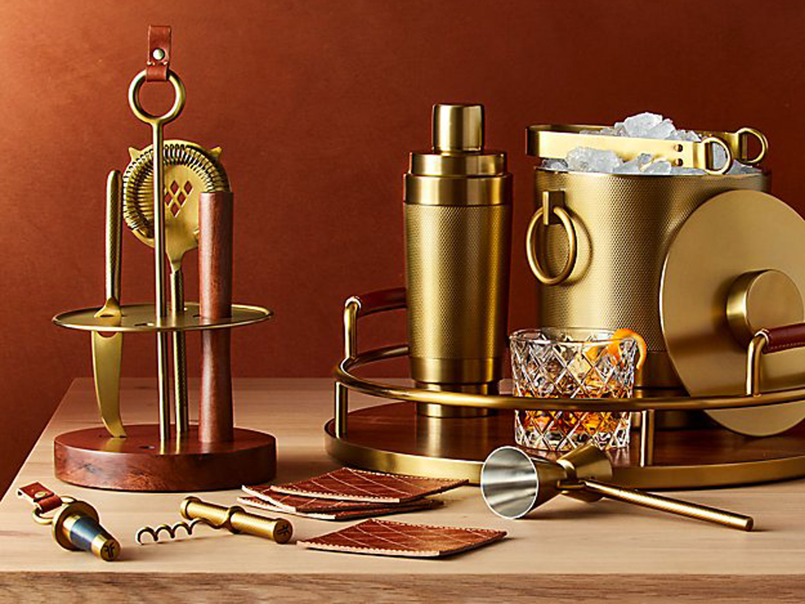 Frye Just Released a Barware Collection at Crate & Barrel and We'd Like One of Everything